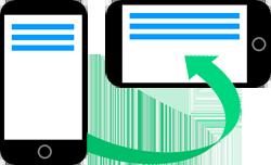 Grafik: Mobilgerät hochkant quer