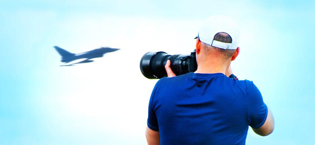 Bild: Planespotter mit Eurofighter