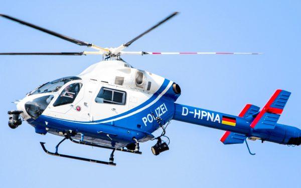 Bild: Polizeihubschrauber über Hannover
