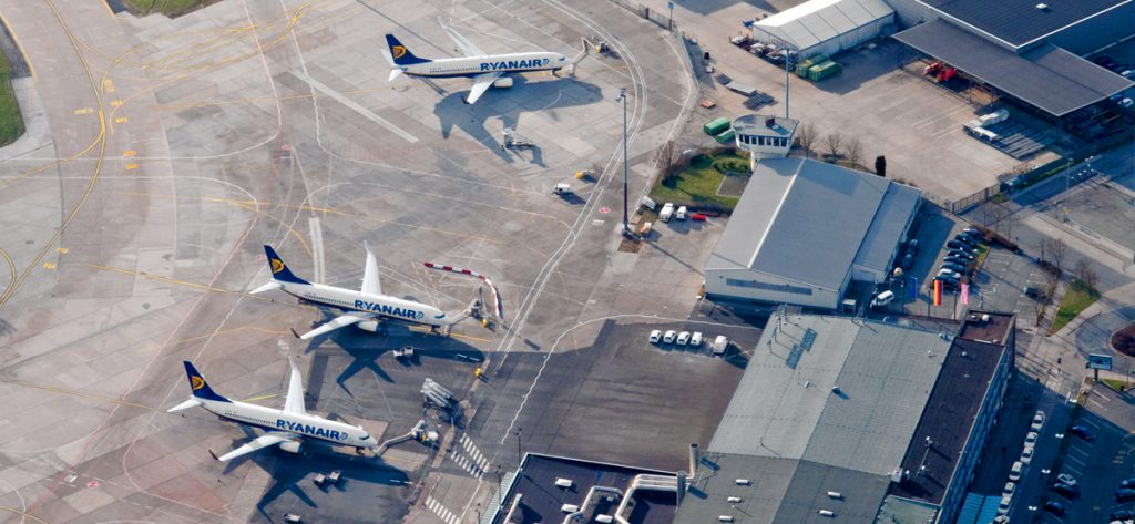 Bild: Ryanair-Flugzeuge in Bremen