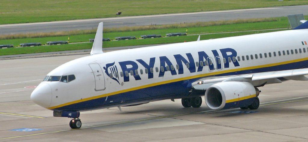 Bild: Ryanair-Flugzeug in Bremen