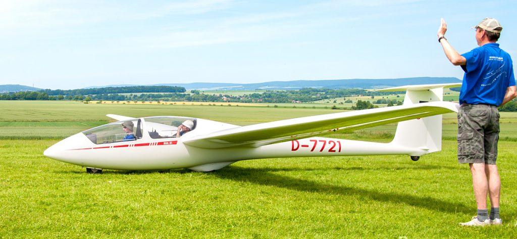 Bild: Segelflugzeug vor dem Start