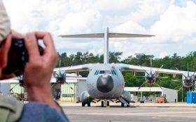 Bild: Fotograf vor Airbus A400M