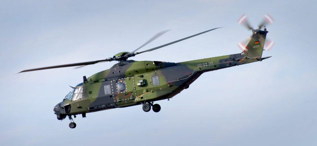 Bild: Bundeswehr-Hubschrauber im Flug