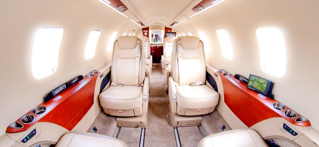 Bild: Interieur eines Learjet 75