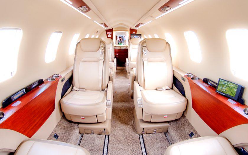 Bild: Learjet-Kabine