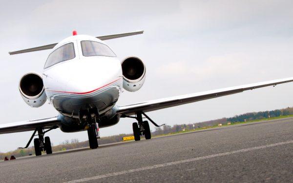 Bild: Learjet am Paderborn-Lippstadt Airport