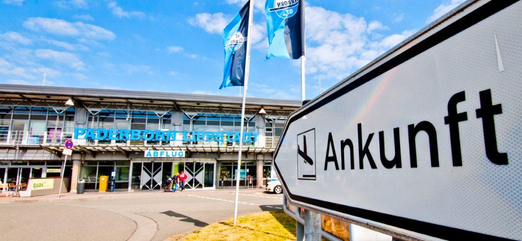 Bild: Ankunft Paderborn-Lippstadt Airport