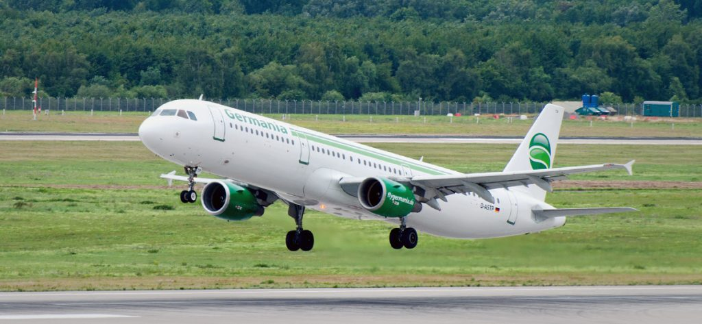 Bild: Germania-Flugzeug
