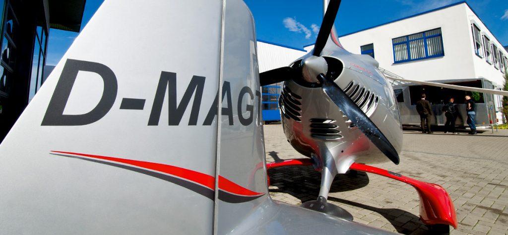 Bild: Tragschrauber mit Propeller