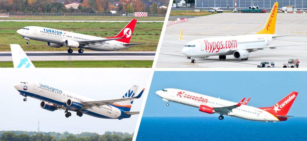 Bild: Fotocollage mit türkischen Airlines