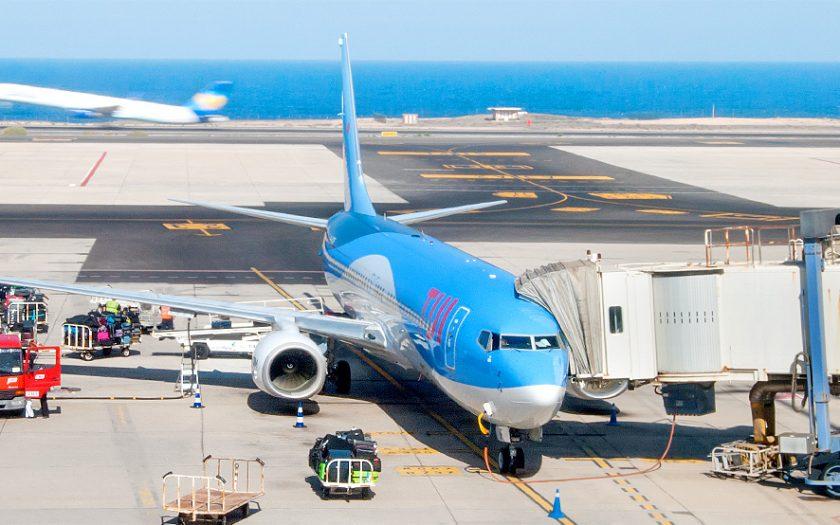 Bild: TUI-Flugzeug im Urlaub