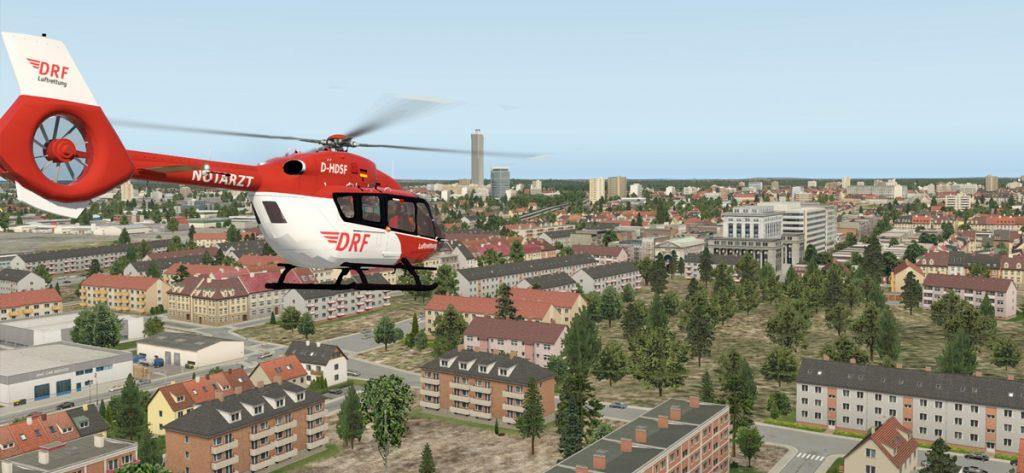 XPlane-Screenshot: DRF Hubschrauber